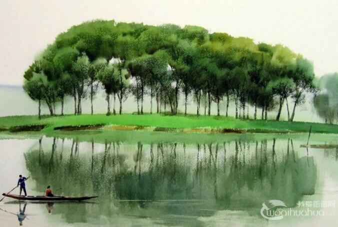 水彩画的材质美感之二:关于画质的透明美感