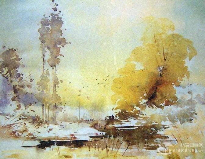 水彩画材质美感之五:水彩画颜色归纳美感