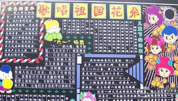 六一儿童节黑板报图片(含板报资料和版面设计图)