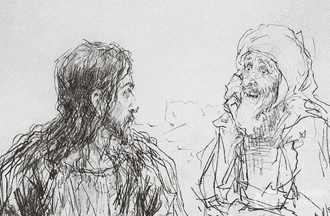 俄罗斯画家列宾的人物速写画作欣赏(下)
