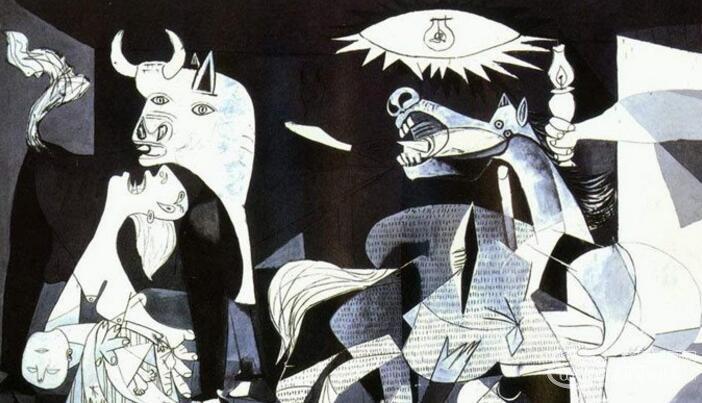 毕加索《格尔尼卡》_毕加索巨型立体主义抽象画作品欣赏