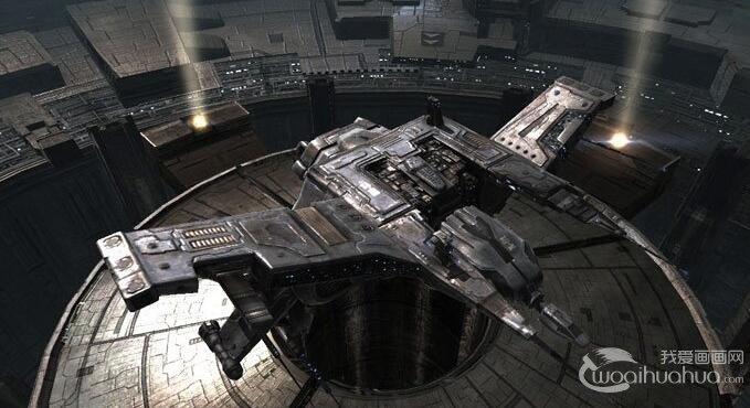 逼真的宇宙飞船幻想画,现代科技航天科幻画图片-太空科幻画 我爱画图片