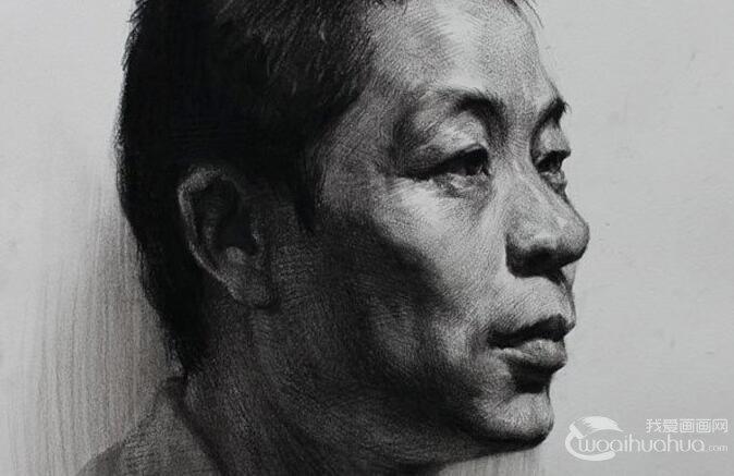 中年男子人物头像素描绘画教程图文详解