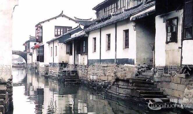 江南水乡风情水彩画:写实与诗意