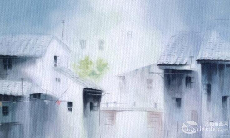 水彩画绘画教程:江南水乡水彩画图文作画步骤