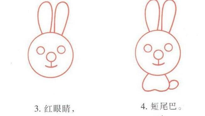 小白兔的简笔画画法图文步骤