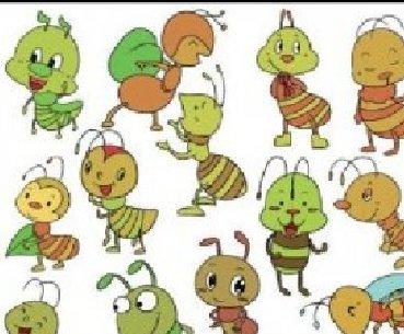 昆虫类简笔画