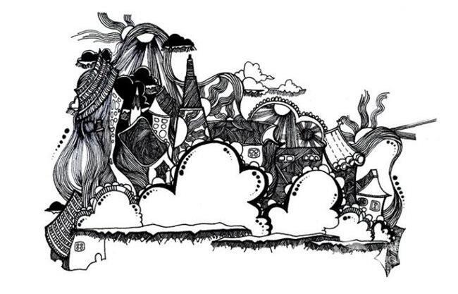 黑白装饰画欣赏