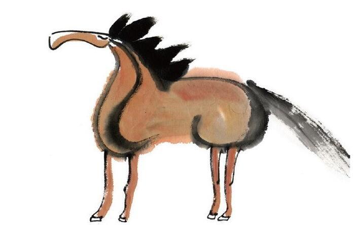 水墨十二生肖午马的绘画技法