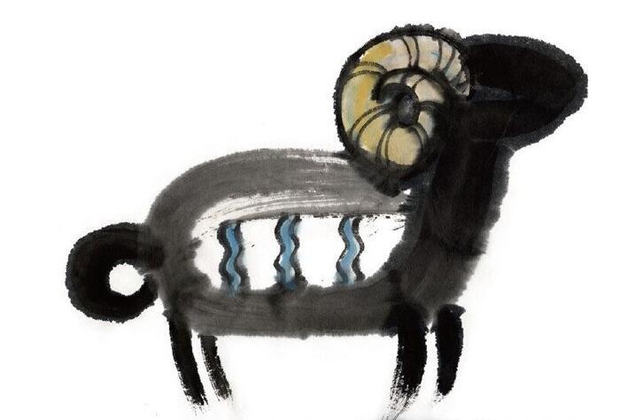 水墨十二生肖未羊的绘画技法