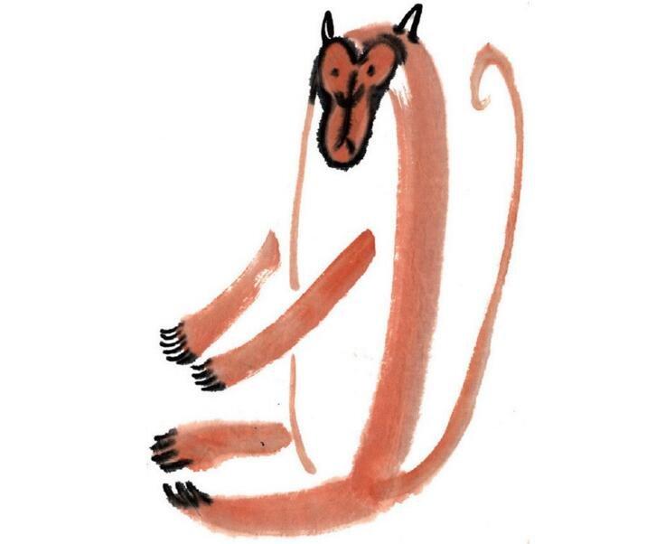 水墨十二生肖申猴的绘画技法