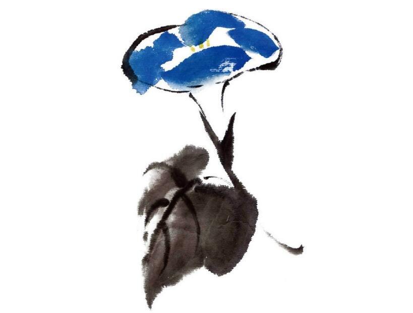 水墨牵牛花的绘画技法