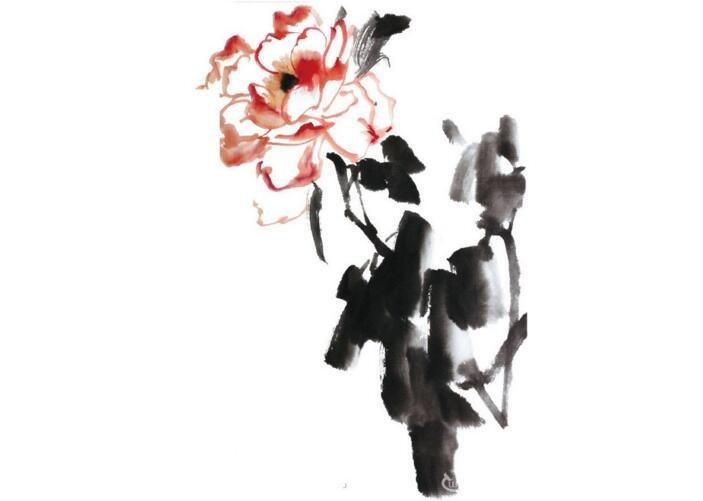 水墨月季花的绘画教程