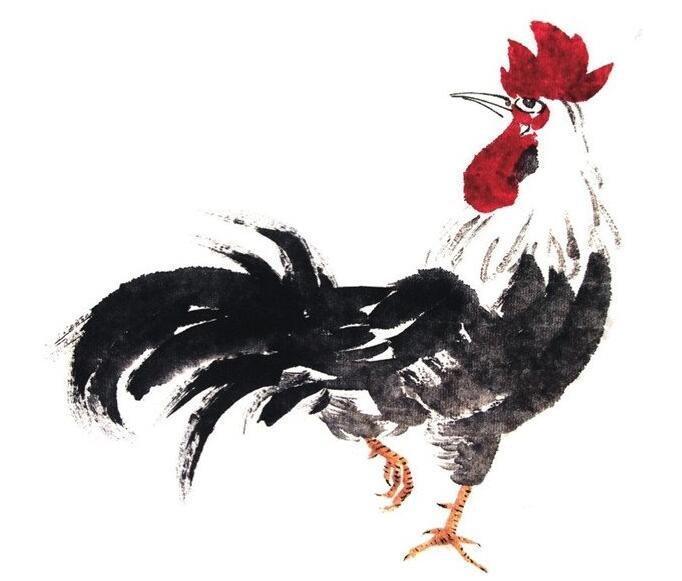 国画公鸡的绘画步骤