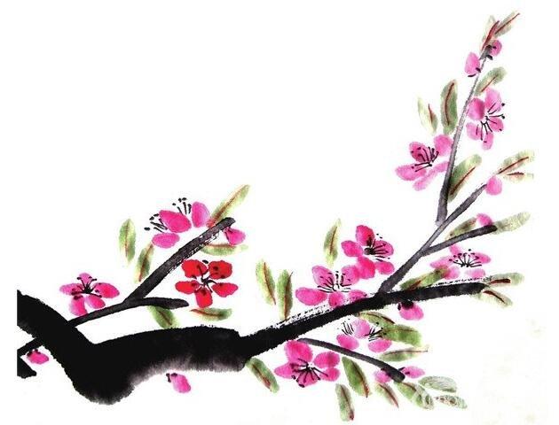 国画桃花的绘画步骤