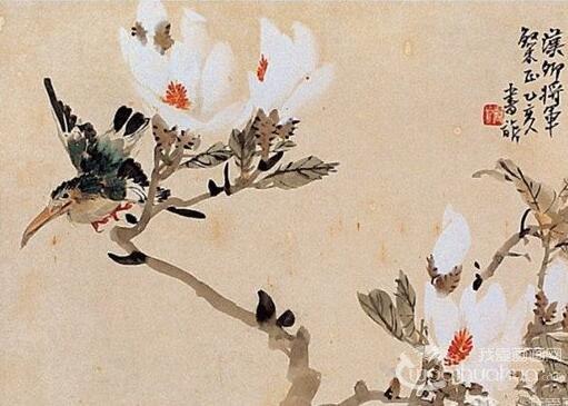 张书�绻�画花鸟作品欣赏