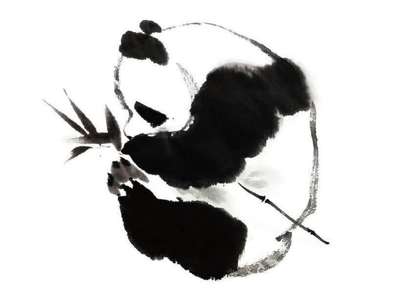 国画熊猫的绘画技法
