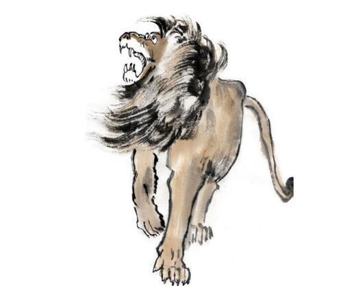 国画狮子的绘画技法