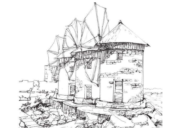 速写风车的绘画技法