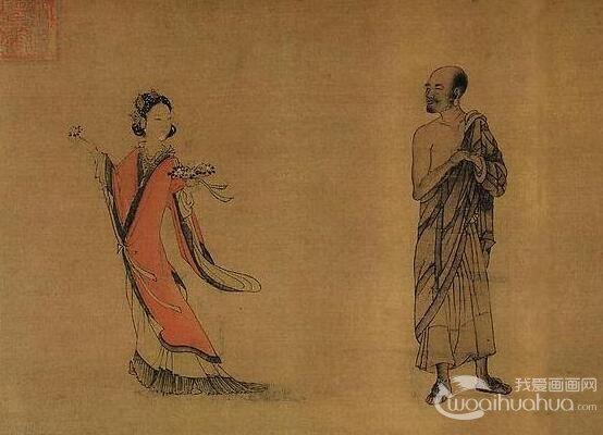 刘松年山水画《天女献花图》作品欣赏