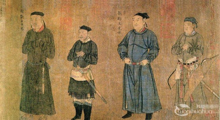 刘松年山水画《中兴四将图》作品欣赏