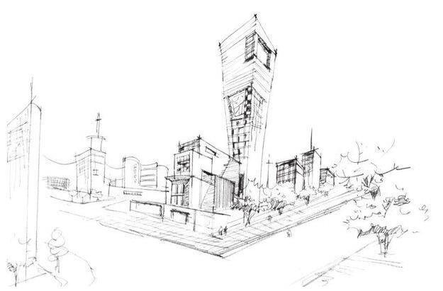 速写繁华街景的绘画步骤
