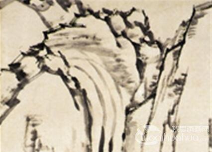 郑燮山水画《甘谷菊泉图》作品欣赏