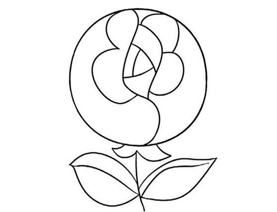 趣味简笔画怒放的玫瑰