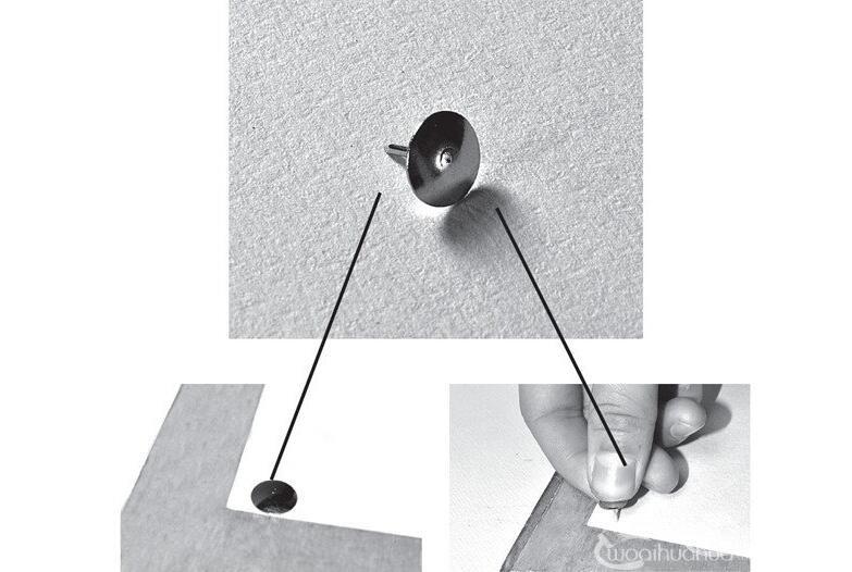 素描常用工具图钉与纸