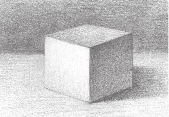素描正方体的绘画技巧