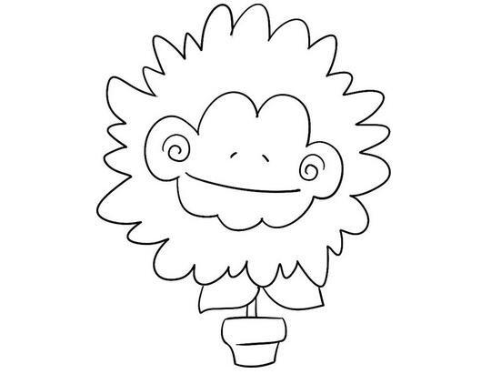趣味简笔画盆栽菊花的绘画教程