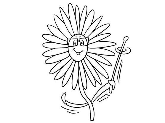 趣味简笔画有学识的花儿