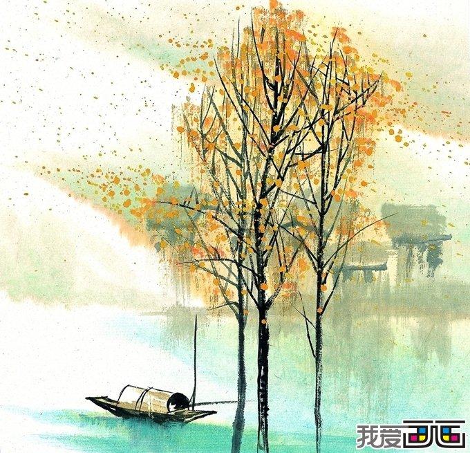 秋天水粉画设计图__绘画书法