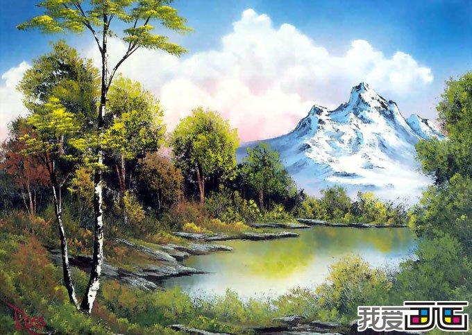 风景油画作品随笔几幅油画图片(3)_世界名画_百科_我