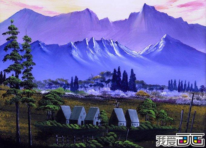 风景油画作品随笔几幅油画图片7