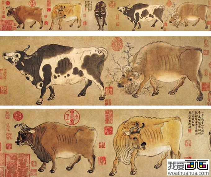 五牛图 唐 中国画名画赏析图片