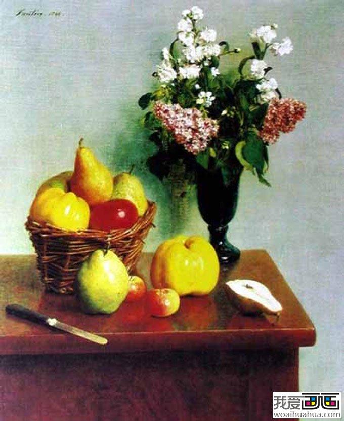 春天的花苹果和梨 静物画 世界名画欣赏 我爱画画 免费学