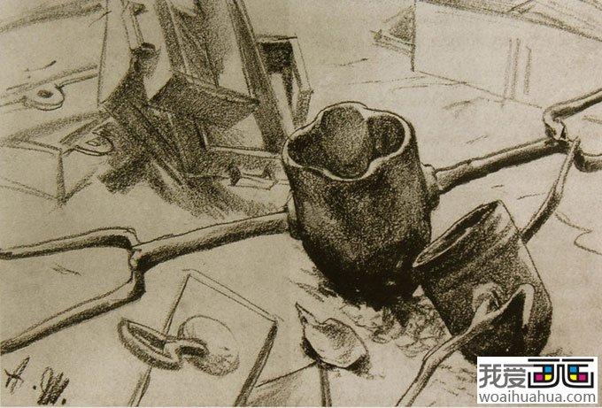 大师门采尔静物素描作品欣赏大全 18副高清大图 2