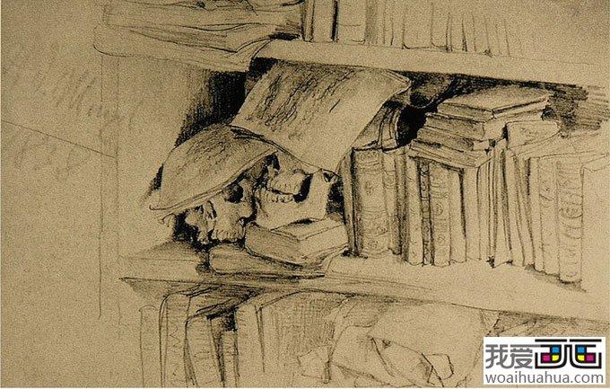 大师门采尔静物素描作品欣赏大全 18副高清大图 11