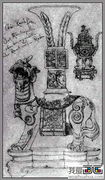 大师门采尔静物素描作品欣赏大全 18副高清大图 16