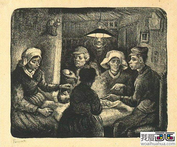 梵高人物版画欣赏高清组图9