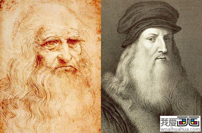 达芬奇画像,达芬奇的自画像