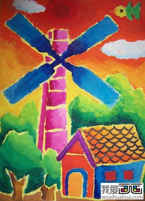 儿童水粉画作品图片; 小学生水粉画作品欣赏图片;