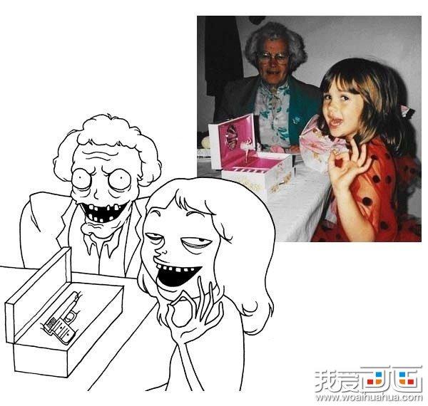 学画画 儿童画教程 简笔画 > 真实人物情景的简笔画超级搞笑图片(组图
