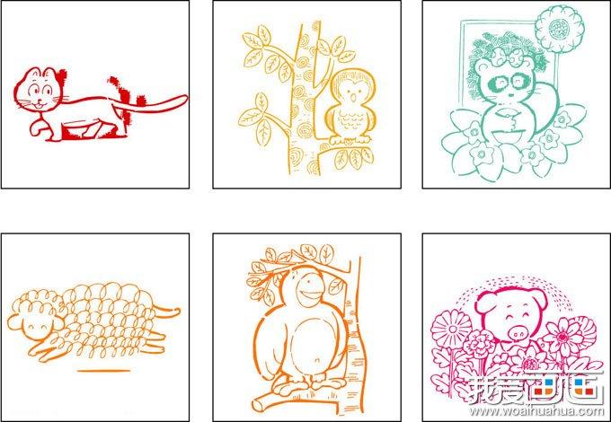 学画画 儿童画教程 儿童画欣赏 > 12张树木和可爱的小动物儿童画图片