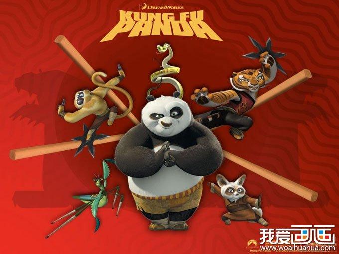 搞笑的功夫熊猫电影海报图片
