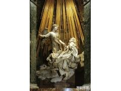 《神志昏迷的圣德列萨》-雕刻和建筑大师贝尼尼雕塑作品