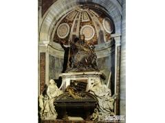 贝尼尼《教皇乌巴诺八世墓碑》_贝尼尼雕塑作品