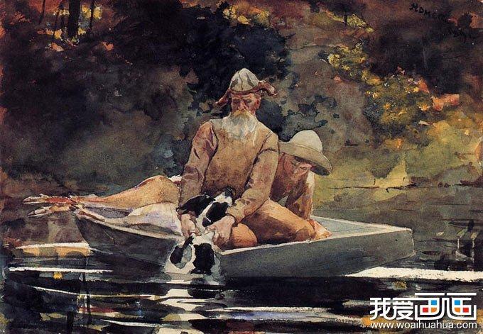 温斯洛·厚莫风景水彩画作品高清图片(四)_世界名画