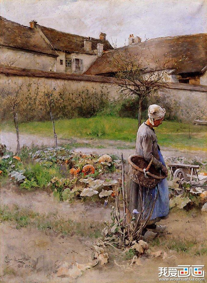 瑞典画家拉森人物风景水彩画作品选登(2)
